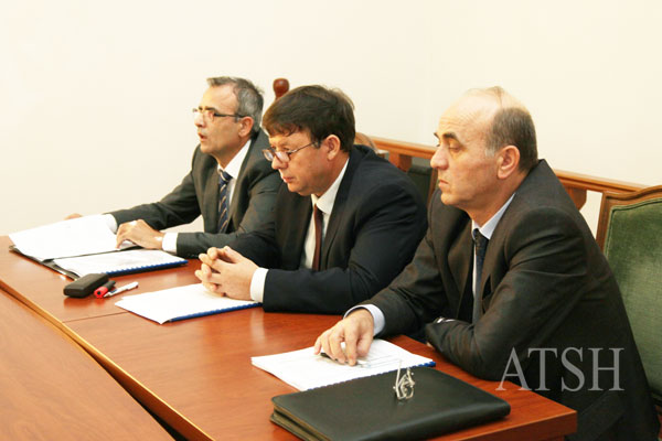 yrtare te Ministrise se Jashtme gjate raportimit ne komision