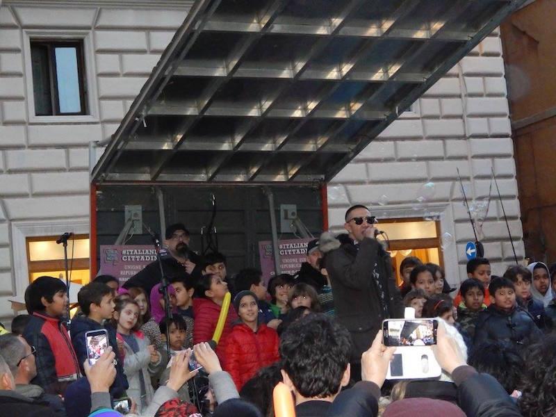 Dalla manifestazione del 28 febbraio. Foto di Esmeralda Tyli
