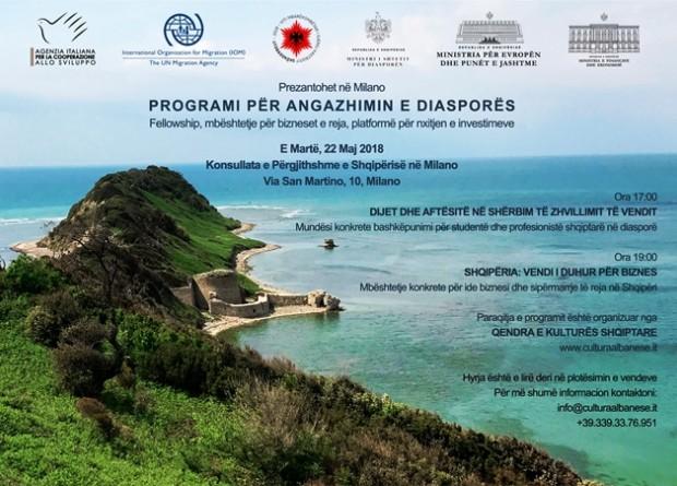 Programi i takimeve të 22 majit në Milano - Shtyp mbi imazh për ta lexuar