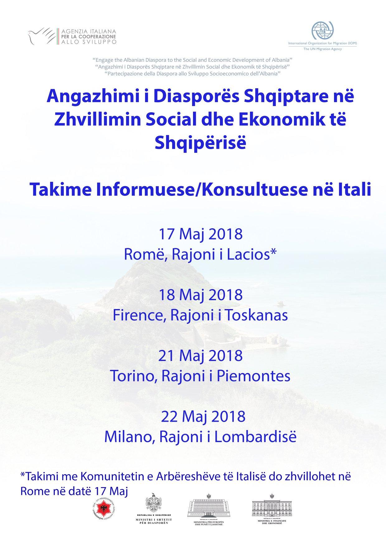 Takimet në Itali - Shtyp mbi imazh për ta lexuar