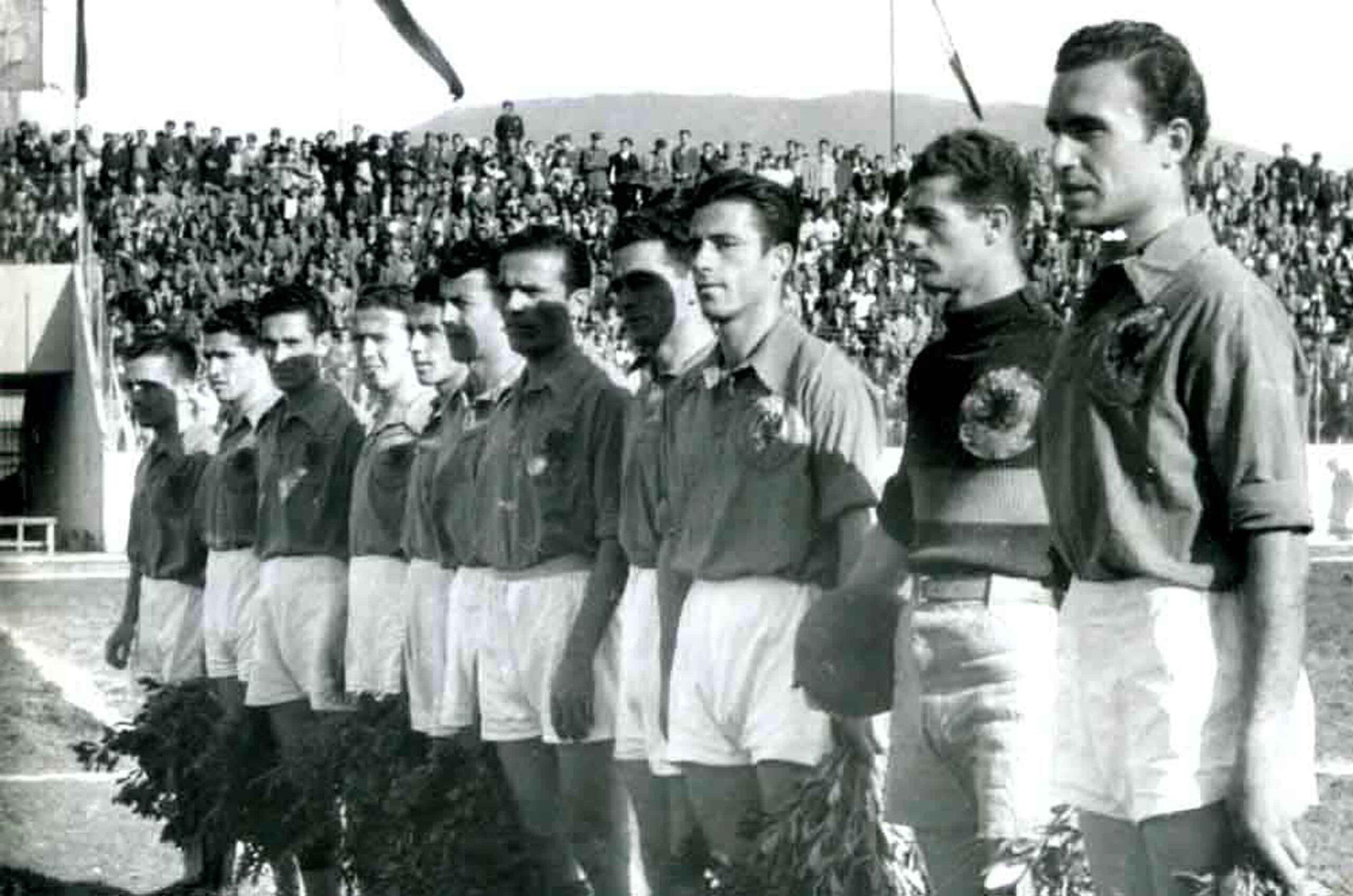 Skuadra e Tiranës e vitit 1946 ku luante edhe daja e Aldo Terrusit